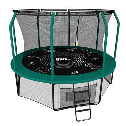Батут UNIX line SUPREME GAME 10 ft green